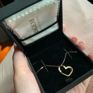 Solid 14k Gold Heart Necklace